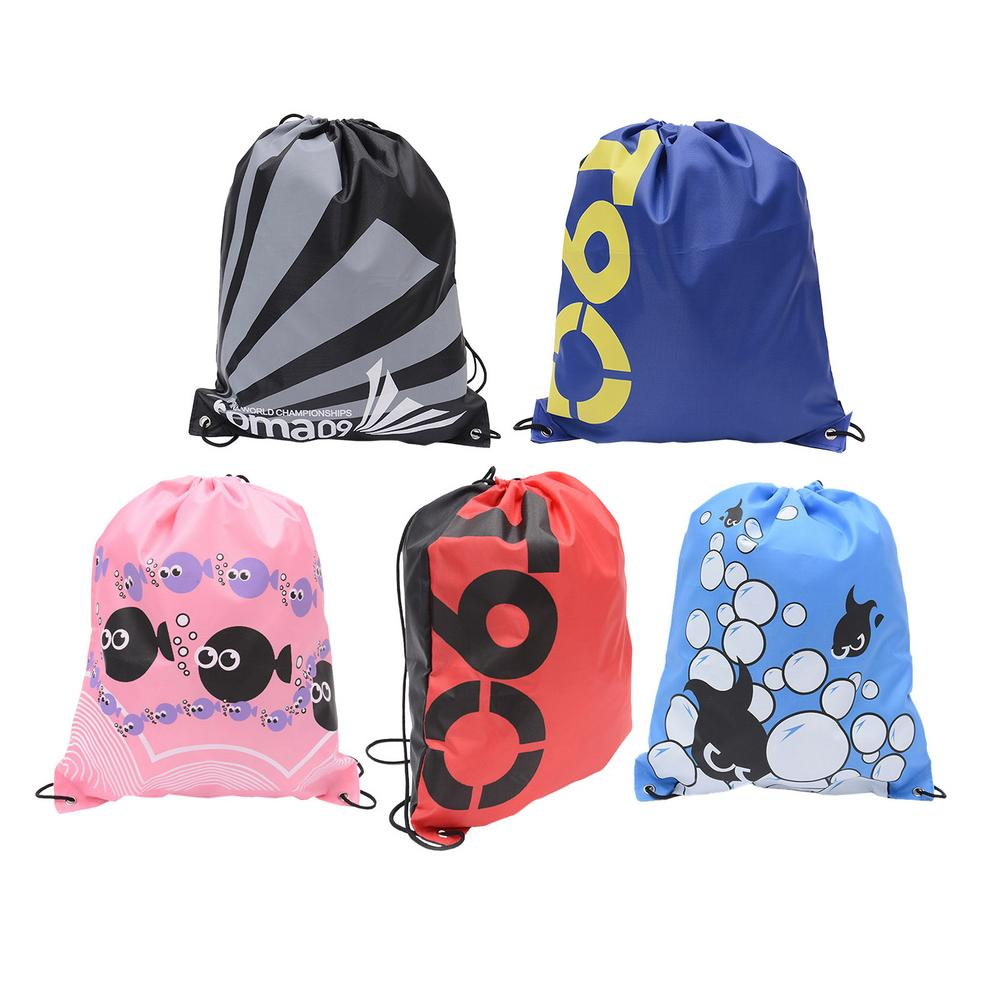 Drawstring Gym Waterproof Backpacks Swimming Sports Beach Bag Travel Portable Fold Mini Double Shoul