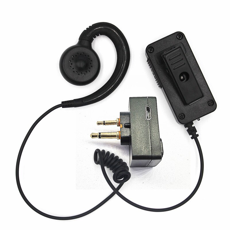 Walkie Talkie Wireless Adptor Kit Blue Tooth Earpiece Vhf Micro Ptt Mic Handsfree Headset 2pin M Adaptor for Motorola Radios