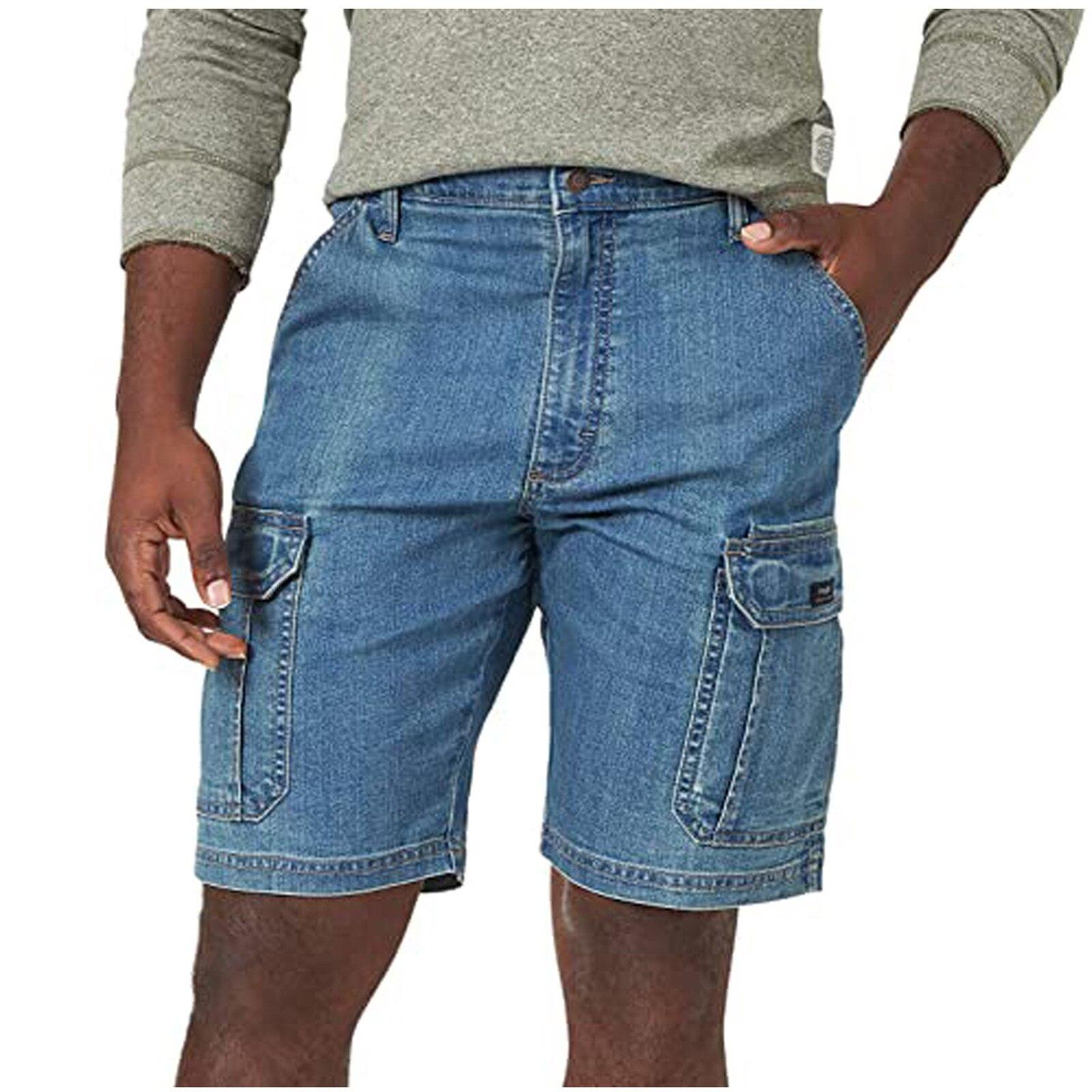 Мужские джинсовые шорты, повседневные хлопковые шорты, модные облегающие деловые повседневные джинсовые шорты, летние шорты, Новинка лета ... hope collection повседневные шорты