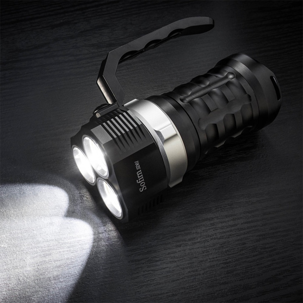 New Update Sofirn SD01 3* SST-40 LED Dive Flashlight 18650 3000LM Lanterna Tactical Military Scuba Diving Flashlights Underwater enlarge