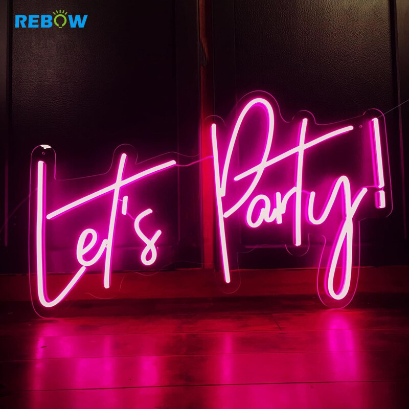 Let's Party Custom Neon Led Letters For Party Restaurant Wedding Bar Shop Birthday Decoration