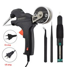 Nuevo Kit de herramientas de soldadura eléctrica de 50W, calefacción interna manual, envío automático, herramienta de reparación de estación de soldadura de estaño