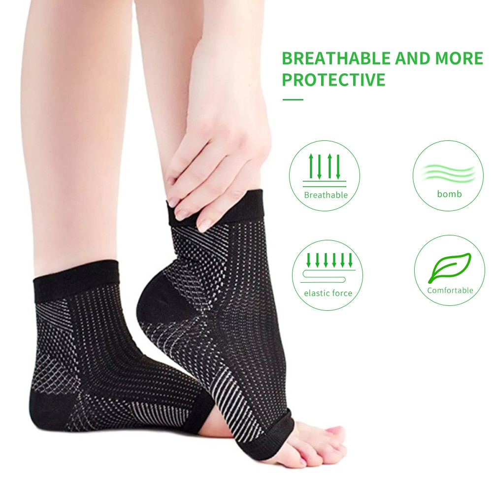 AliExpress - 1 pair anti fatigue compression foot sleeve Ankle Support Running Cycle Basketball Sports Socks Outdoor Men Ankle Brace Sock