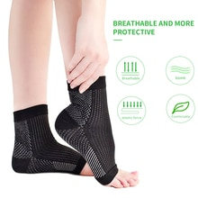1 pair anti fatigue compression foot sleeve Ankle Support Running Cycle Basketball Sports Socks Outd