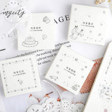 Simple Black White Planner sticky Cute washi sticker journal Scrapbook DIY sticker Diary decorative stickers kawaii