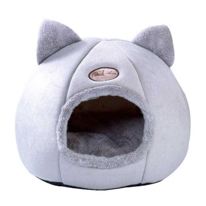 Cama de gato dobrável com autoaquecimento, cama acolchoada removível para cachorros pequenos cães de gatos