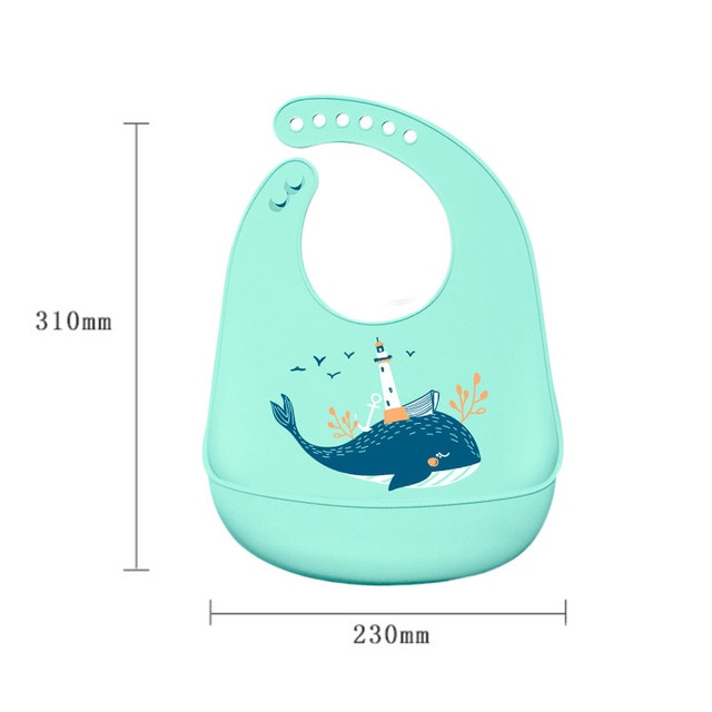 Waterproof Baby Bibs Adjustable Silicone Toddler Infant Burp Cloths Kids Feeding Aprons Children Eating Lunch Breastplate Stuff 10