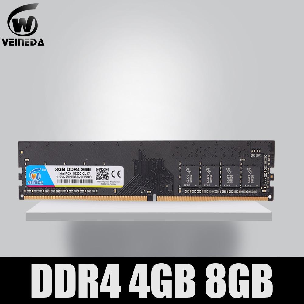 VEINEDA ddr4 8gb سطح المكتب ram 2400 2666 3200MHZ DIMM سطح المكتب الذاكرة دعم اللوحة ddr4
