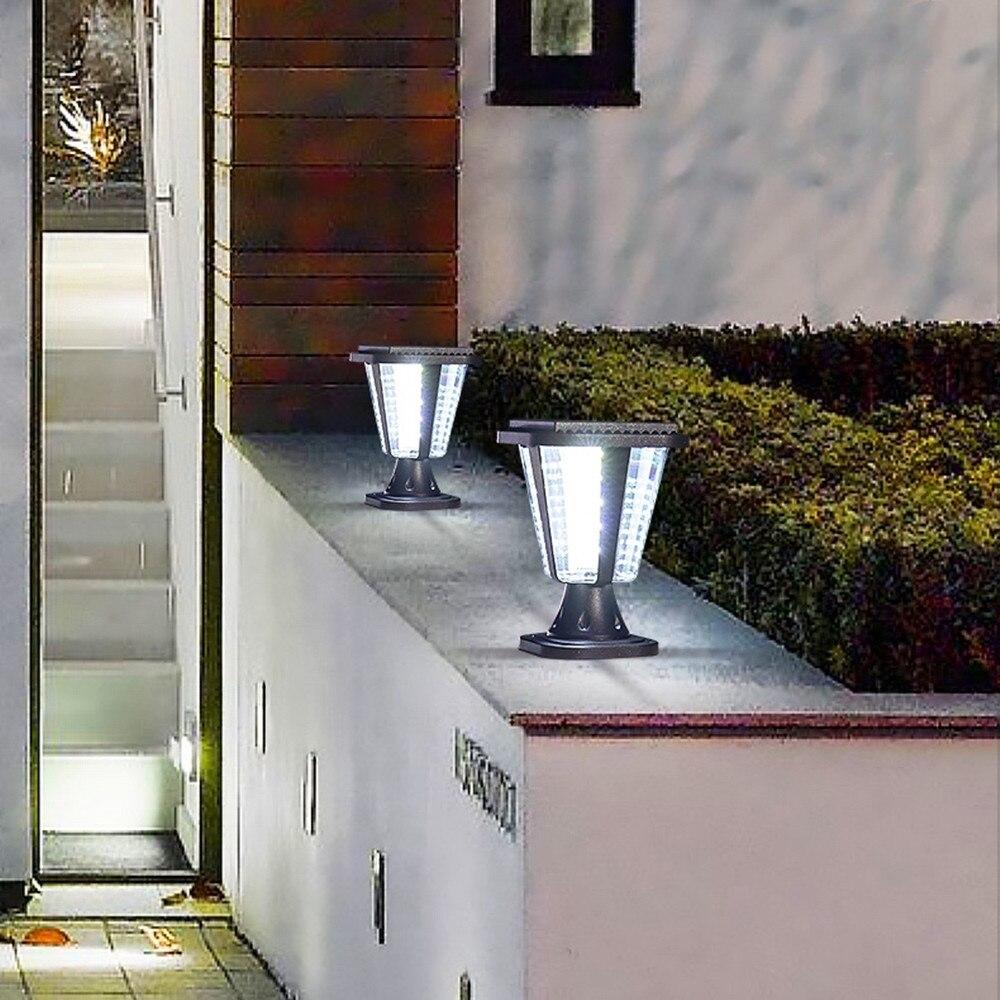 Solar LED Wall Pillar Lights Outdoor Garden Lights Column Headlights Household Waterproof Doorpost Lights Super Bright Door enlarge
