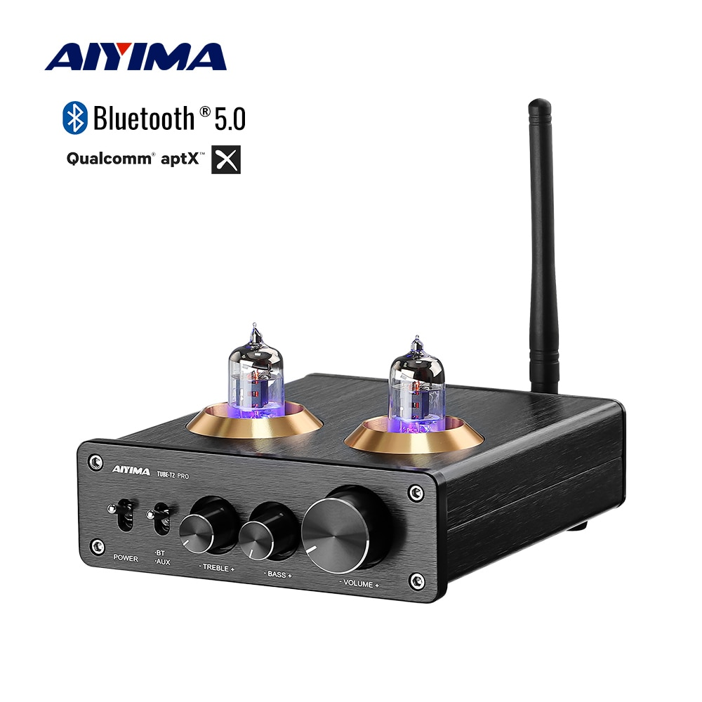 AIYIMA APTX بلوتوث 5.0 6J1 فراغ أنبوب Preamp المزدوج TPA3116 الطاقة الرقمية مكبر صوت استيريو 100Wx2 المسرح المنزلي Hifi أمبير صغير