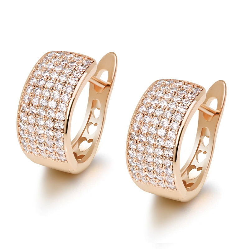 Mxgxfam 2021 nova completa mircon brilhante zircão hoop brincos para as mulheres moda jóias aaa + cz ouro cor 18 k boa qualidade
