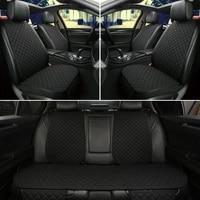5 seats car seat cover protector car accessori backrest front rear seat back waist washable cushion pad mat auto four seasons