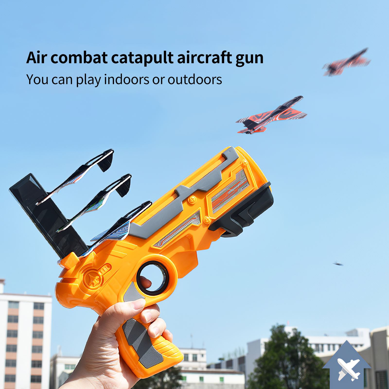 Parkten Catapult plane One-Click Ejection foam airplane Launchers Glider model toy Outdoors Toys for Children Kid And Adult