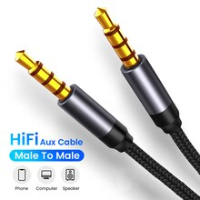 AUX Cable Jack 3.5mm male to male Audio Cable 3.5mm Speaker Cable for Headphones Car for Xiaomi Redm