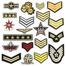 Военные нашивки одежда аппликации вышитые полосы значки железные аппликации медалью наклейки для одежды @ G
