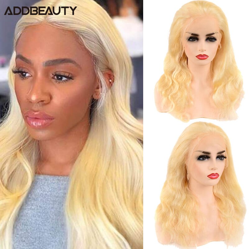 613 Blond Human Hair Wig Body Wave 13x6 Lace Closure Wigs for Women 13x4 Lace Frontal Human Remy Hair Wig Free Part Pre Plucked