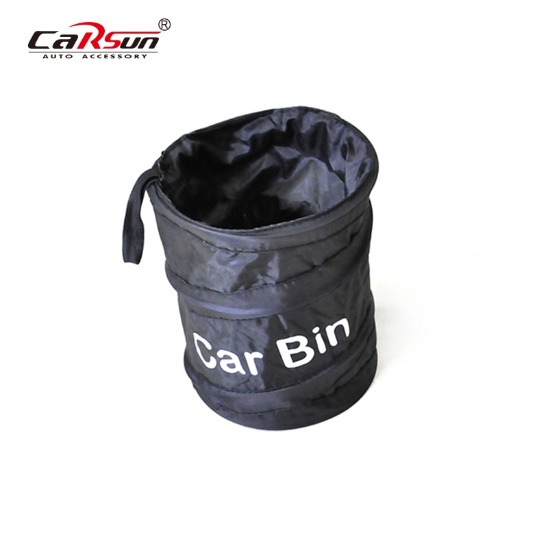 CARSUN Car Trash Can Auto Organizer Storage Bag Garbage Bin Dust Case Holder Auto Accessories Car-St