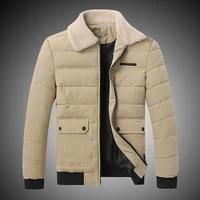 2021 new fur collar winter coat mens padded warm coat
