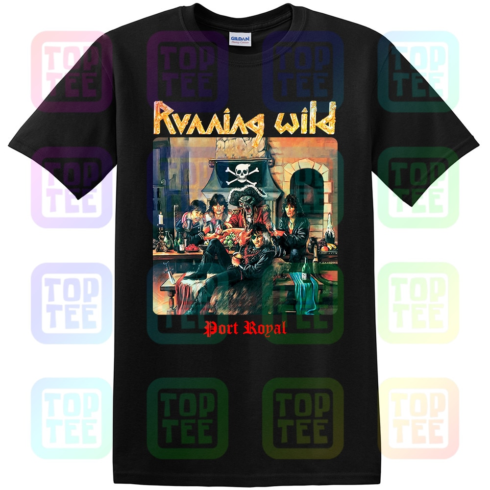 Salvaje PORT ROYAL X-WILD GRAVE DIGGER ira HELLOWEEN nuevo negro camiseta