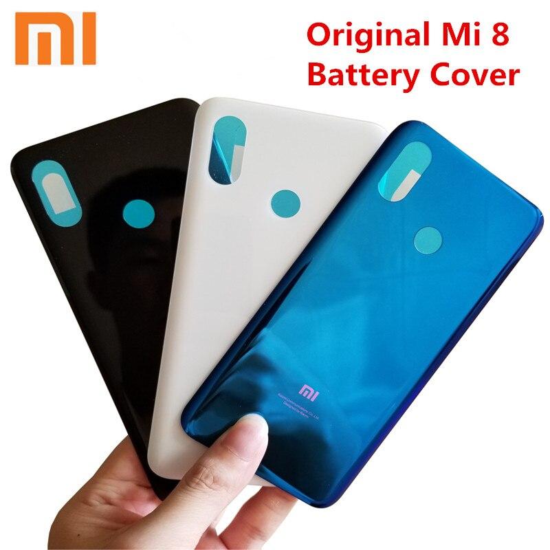 Xiaomi Mi8 Battery Cover Mi 8 Rear Glass Door Housing Replacement For Xiaomi Mi8 Battery Cover Back