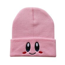 Casual Beanies Skullies Lovely face Embroidery Knitted Hat Bonnet Cap Girls Boys Skiing Warm Unisex