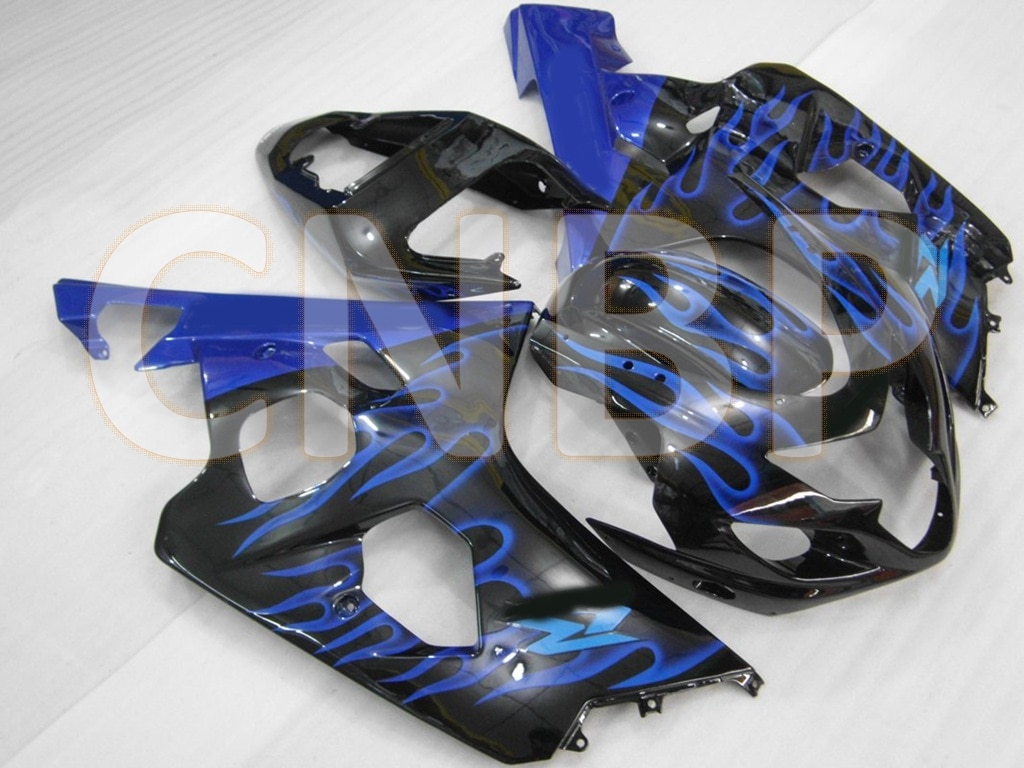 GSX-R600 2004 - 2005 K4 de carenado GSXR750 2004 de plástico negro carenados GSXR600 04 carenado Kits