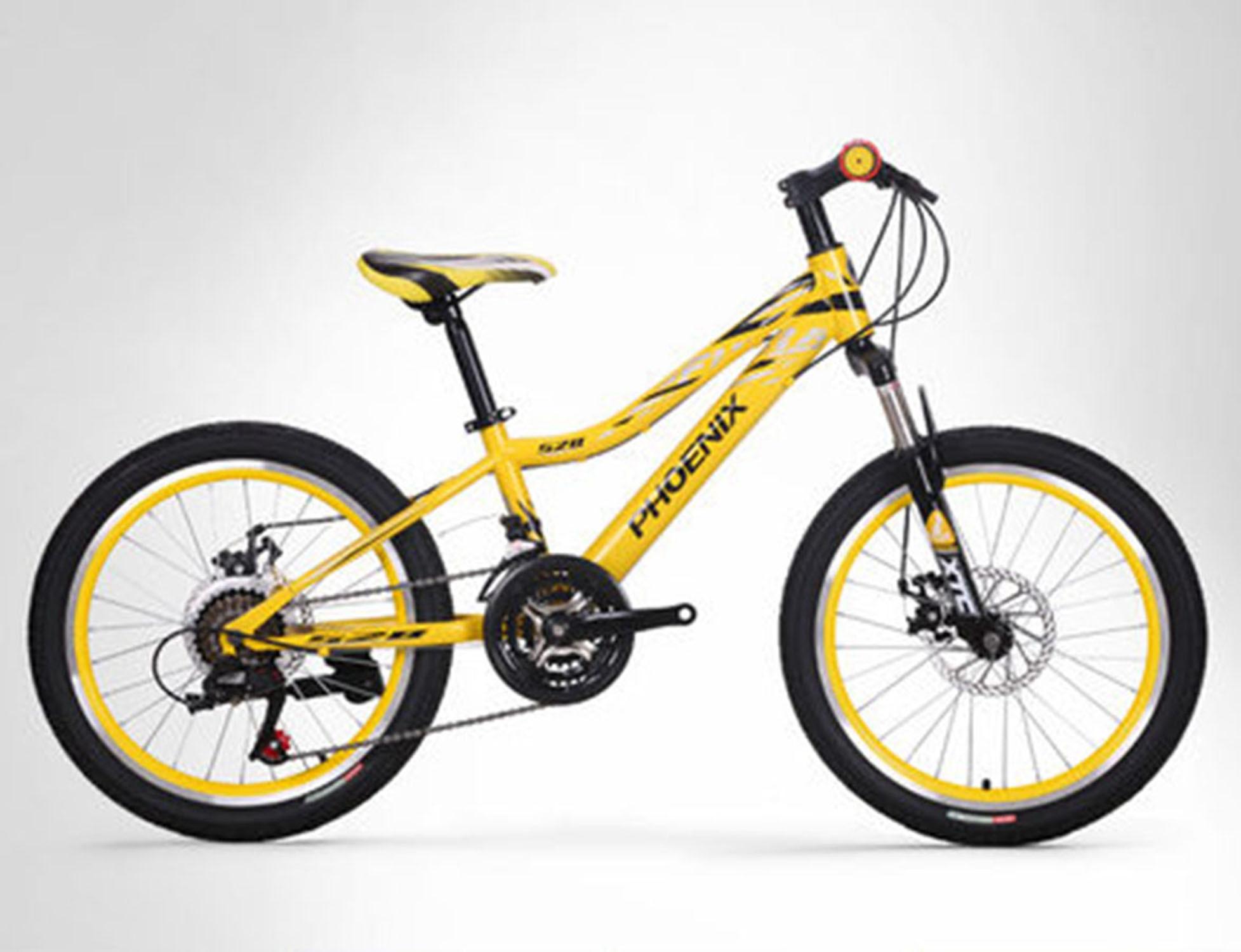 Bicicleta para estudiante de 20 pulgadas, bicicleta con freno de disco de doble velocidad 21