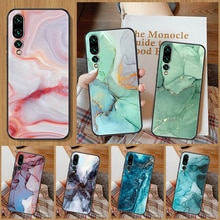 Vintage Marble Phone Case For Huawei P Mate P10 P20 P30 P40 10 20 Smart Z Pro Lite black trend shell