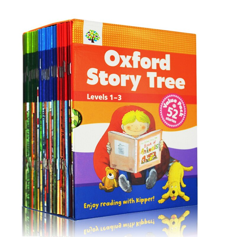 1 Set 52 Books 1-3 Levels Oxford Story Tree Baby English Reading Picture Book Story Kindergarten Educational Toys For Children