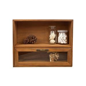 Wooden Box Makeup Organizer Holder Case Storage Rack Cosmetic Office Home Bathroom Creativity Desktop Retro Drawer Container