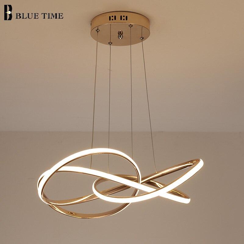 Luz colgante de nuevo diseño 2020 para dormitorio, sala, comedor, acabado dorado, cables de luz colgantes que pueden ser ajustables 110v 220V