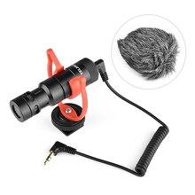 Мини микрофон «подключи и работай», микрофон с разъемом 3,5 мм и противоударным креплением, ветровой экран для смартфонов, DSLR камер, видеосъемки