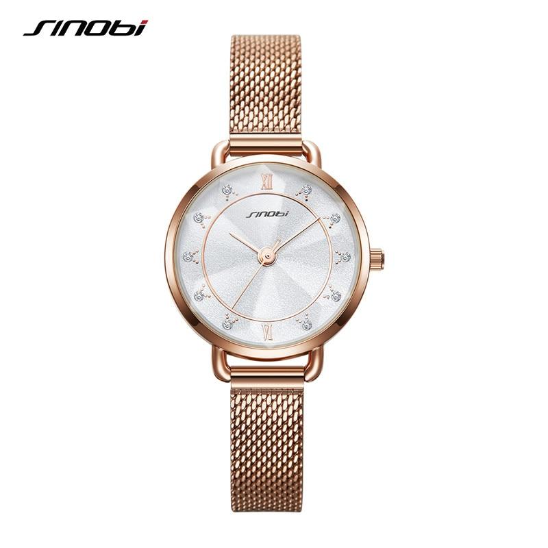 Sinobi High Quality Fashion Women's Luxury Diamond Watches Elegant Bracelet Watches Female Relogio Feminino Montre Femme Gift