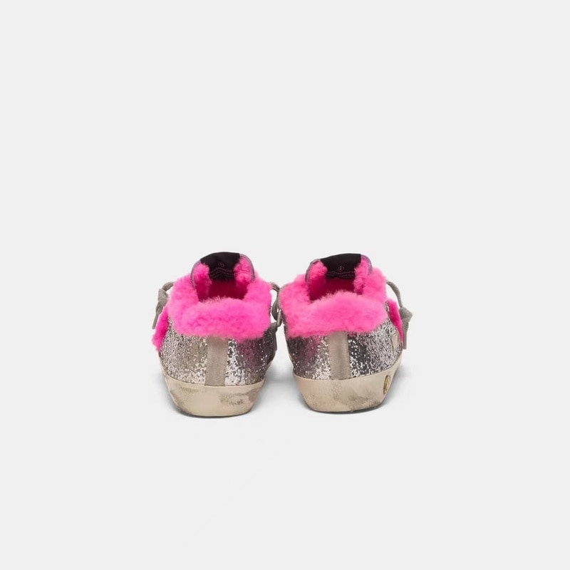 Winter New Children's Products Silver Sequined Lamb Hair Old Small Dirty Shoes Boys and Girls Casual Parent-child Shoes CS200 enlarge