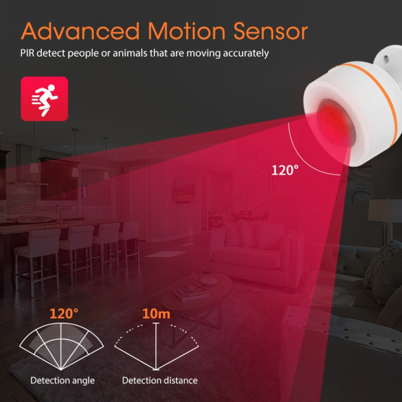 ZigBee PIR Smart Motion Sensor Built-in Temperature Humidity Sensor Wireless IR Detector Tuya Smart Life APP Alexa Google Home