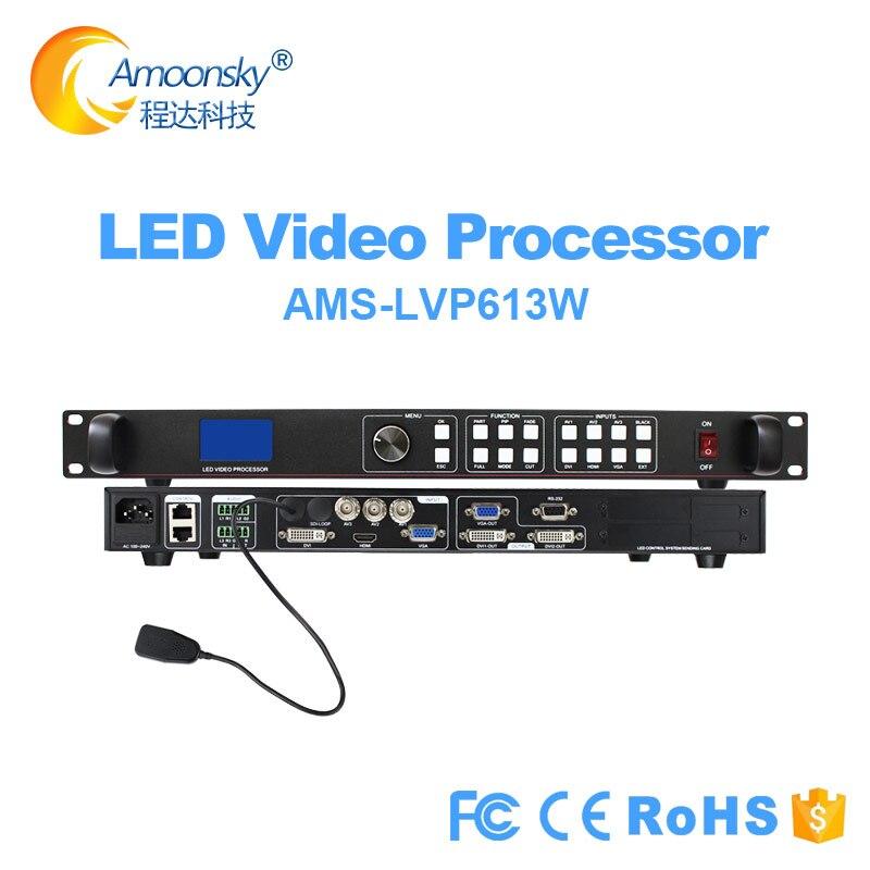 أفضل سعر وحدة تحكم الفيديو الجدارية للوحة led سلس التبديل led المعالج توسيع واي فاي LVP613W دعم novastar msd300