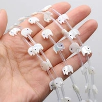 5pcs 2021new hot selling natural sea shell pig shaped beaded handmade crafts for necklaces bracelets anklet jewelry gifts 8x10mm
