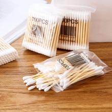 10x 100 Hohe Qualität 100 Weiche Tasche Holz Stick Doppel Kopf Baumwolle Tupfer Sanitär Tupfer Küche werkzeug zubehör #20