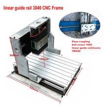 Rail de guidage 3040 CNC cadre 3040L linéaire guidage cadre vis à billes 1605 avec moteur pour bricolage CNC gravure forage fraiseuse