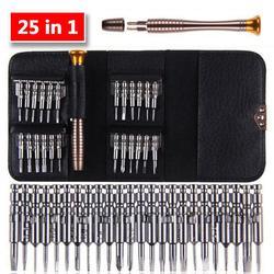 Mini precisão chave de fenda conjunto 25 em 1 torx eletrônico chave de fenda abertura ferramentas reparo kit para o iphone câmera relógio tablet pc Chave de fenda    -