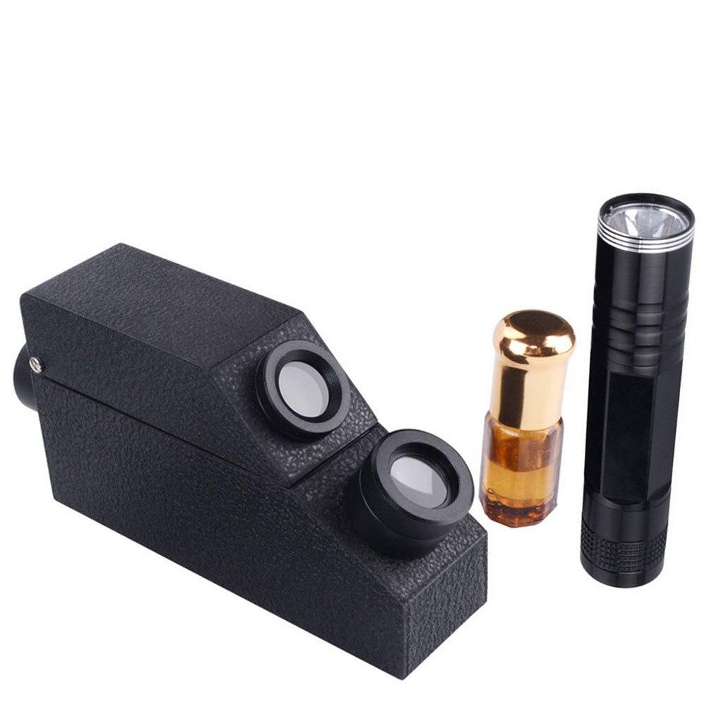 Gem Refractometer Jewelry RHG 1.30-1.81RI Professional Gemstone ldentification Built-in LED Light Diamond Detector Testing Tool