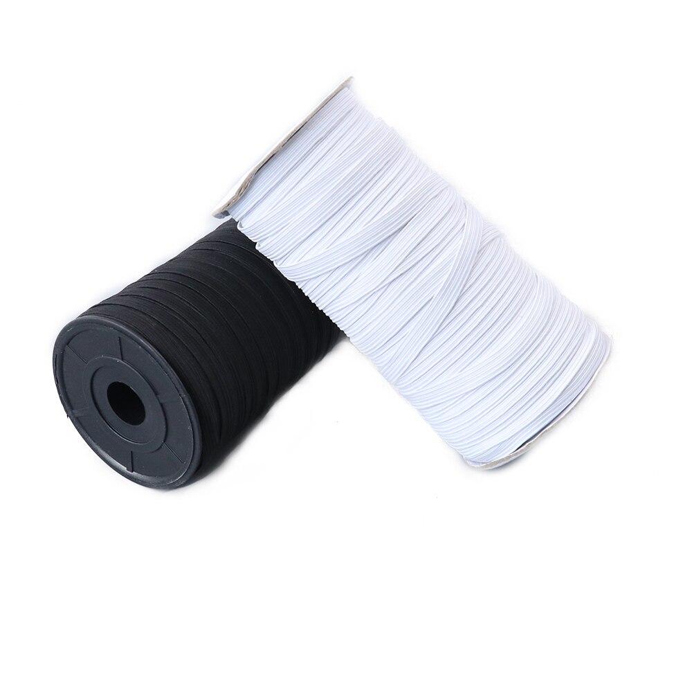 5/10/20 medidores máscara elástica faixa de borracha amostra 8 mm branco alta bandas elásticas faixa de cintura plana costura corda de vestuário para máscara diy