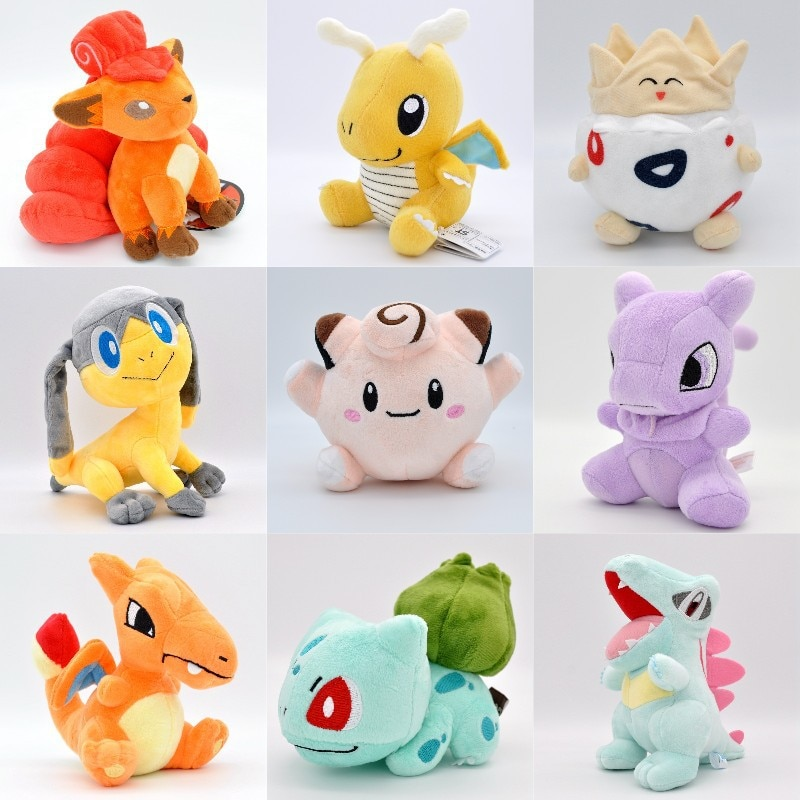 Takara Tomy Pokemon Pikachu de peluche de juguetes Togepi muñecas de pasatiempos juguetes de peluche Pokemon juguetes de peluche para los niños