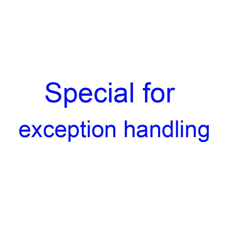 Special for exception handling