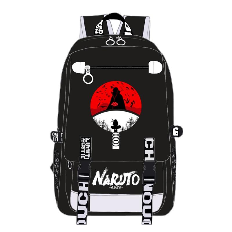 Naruto Ninja Hokage Sharingan mochila niños niñas mochilas escolares adolescentes bolsa de libros hombres mujeres viaje bolso de los hombros del ordenador portátil