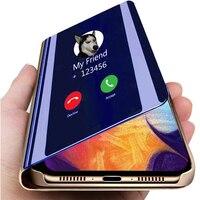 Умный зеркальный флип-чехол для Xiaomi Redmi K20 Note 4 5 6 7 8 9 9S 4X 8T 7A 8A 9A 9C Mi Note 10 CC9 9T POCO F1 F2 Pro X3 NFC