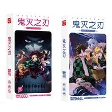 Cute Anime Demone Slayer kimetsu no Yaiba Kamado Tanjirou Nezuko Cartolina Cartoline Sticker Artbook Regalo Cosplay Puntelli Libro Set