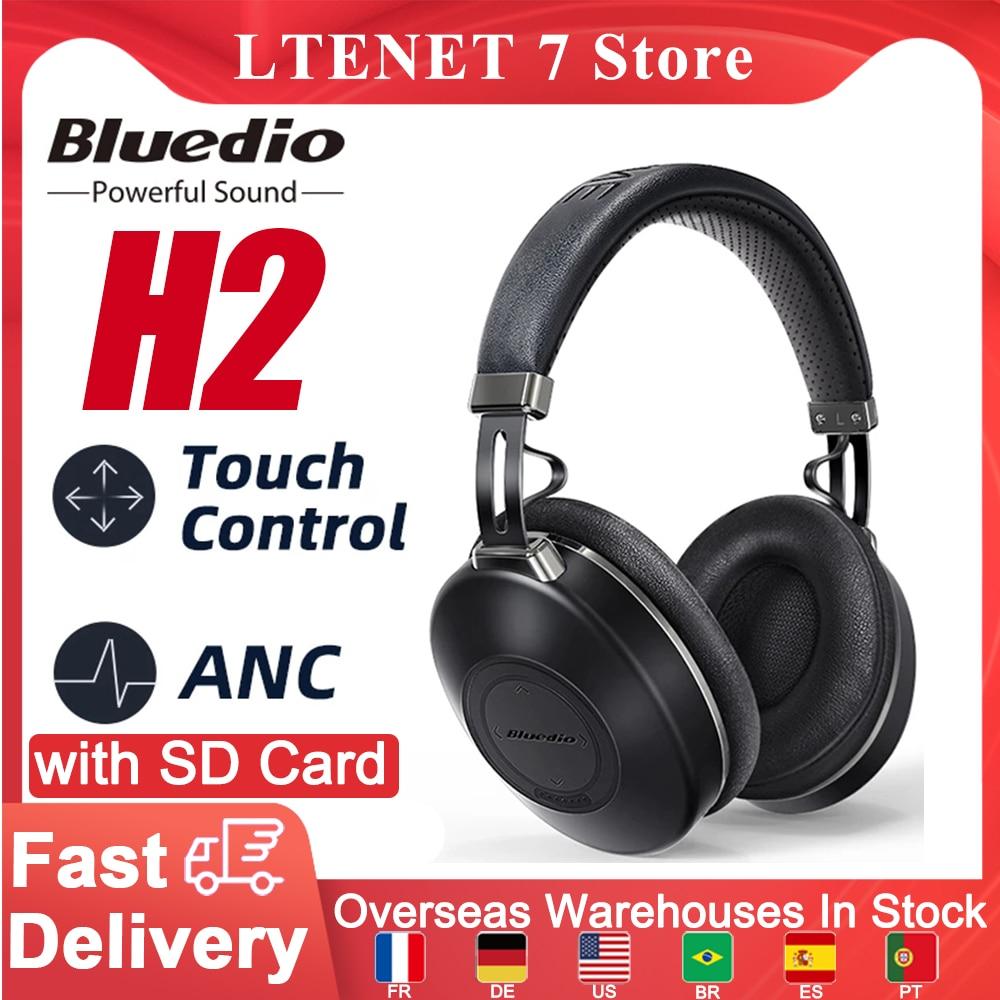 Bluedio H2 Headphone Bluetooth Headset Noise Cancelling Bluetooth 5.0 Headset With Mic Wireless Headphones Sports Head Earphone