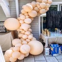 82pcs cream peach balloons garland diy children birthday party decoration arch chain kit wedding anniversary baby shower decor