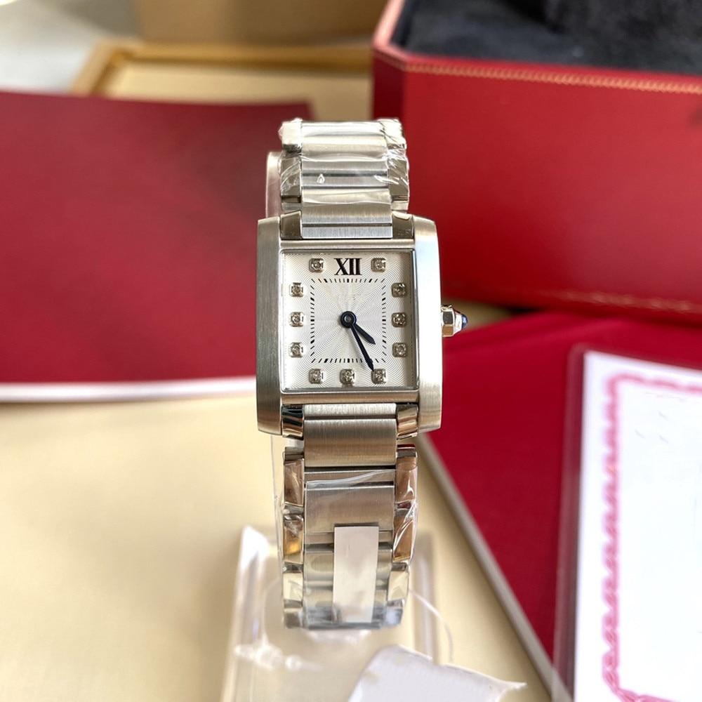 Square women's watch 25*20mm, strap made of 904L steel, quartz movement, sapphire glass, 30 meters w